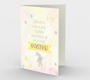 1169. Warm And Fuzzy Easter  Card by DeloresArt