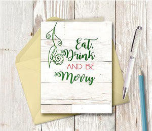 1001 Eat Drink And Be Merry Note Card
