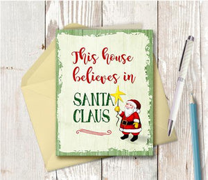 1002 This House Believes In Santa Claus Note Card