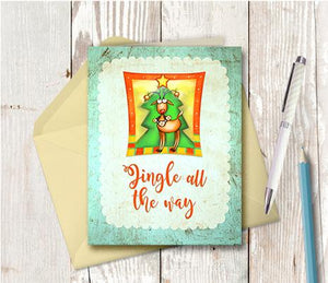 1003 Jingle All The Way Note Card