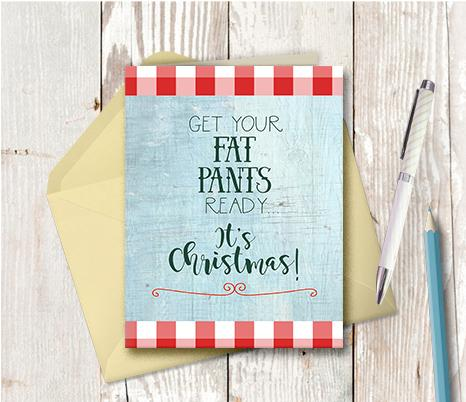 1004 Fat Pants Plaid Note Card