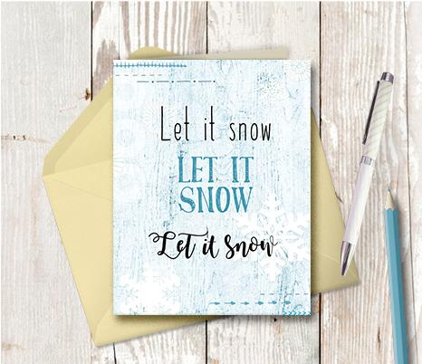 1005 Let It Snow Note Card