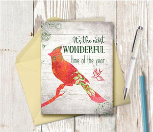1008  It is The Most Wonderful Time Of The Year Note Card