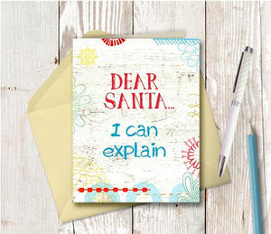 1016 Santa I Can Explain Note Card