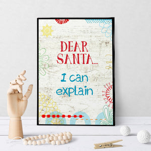 1016 Santa I Can Explain Art - deloresartcanada