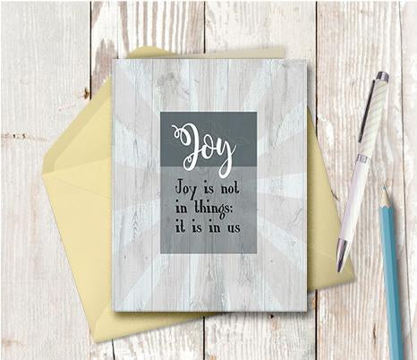 1017 Joy Is In Us Note Card