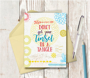 1020 Don't Get Your Tinsel In a Tangle Note Card
