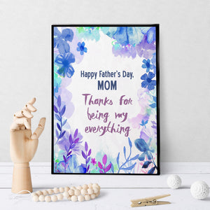 1071 Happy Father's Day, Mom Art