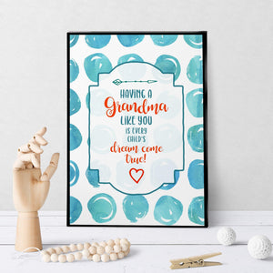 1081 Dream Come True Grandma Art - deloresartcanada