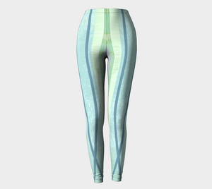Coaxial Greens Leggings by Deloresart