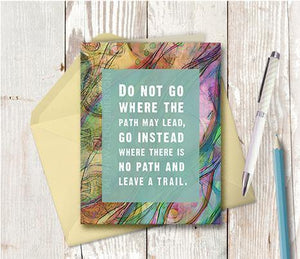 0111 Path May Lead Note Card