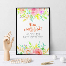 1137 You Survived New Baby Mother's Day Art