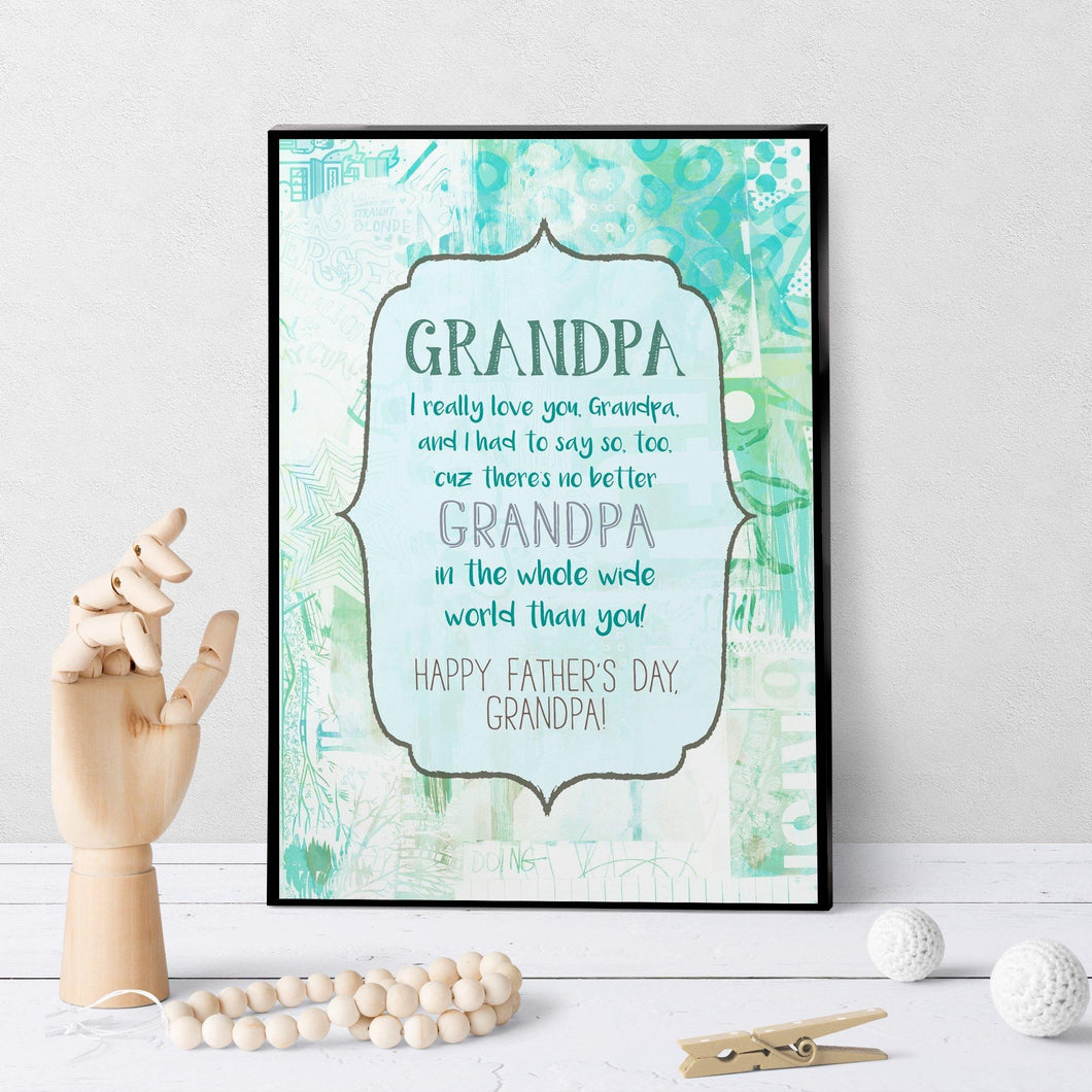 1148 World's Best Grandpa Father's Day Art