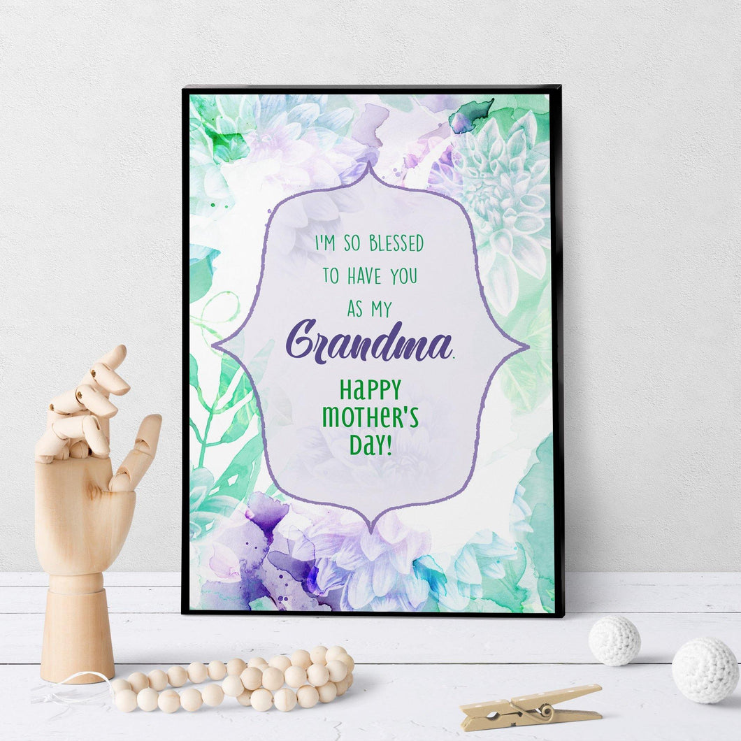 1192 Blessed You're My Grandma Mother's Day Art
