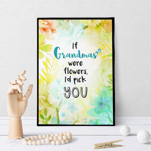 1196 If Grandmas Were Flowers Art