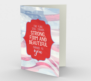 1364 The Flag Still Stands Card by Deloresart