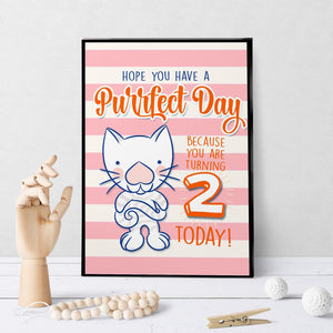 1236 Have A Purr Fect Birthday 2 Art - deloresartcanada