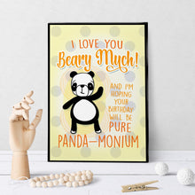1237 Panda Birthday Art