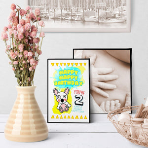 1240 Baby Bear Age 2 Birthday Art - deloresartcanada