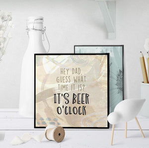 1264 It's Beer O'clock V2 Art - deloresartcanada