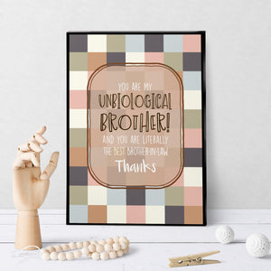 1278 Unbiological Brother Art - deloresartcanada