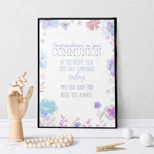 1297 Communion Congratulations Art - deloresartcanada