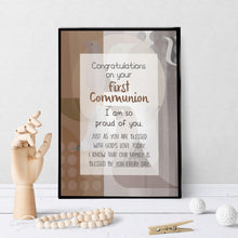 1304 Congrats On First Communion Birds Art