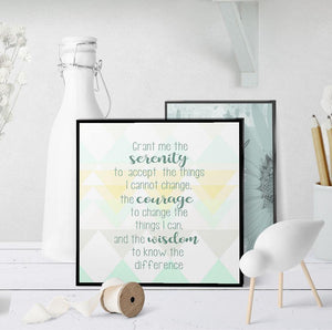 1310 Serenity Prayer Abstract Triangles Art