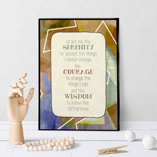 1311 Serenity Prayer Bold Abstract Art