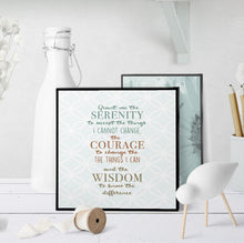 1312 Serenity Prayer Soft Blue Art