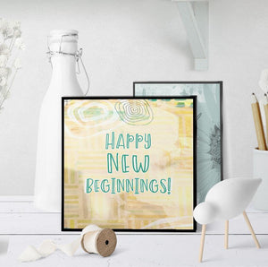 1341 Happy New Beginnings Art