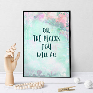 1347 Oh The Places You Will Go Art