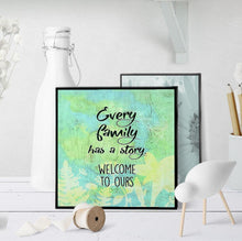 1357 Every Family Has A Story Art