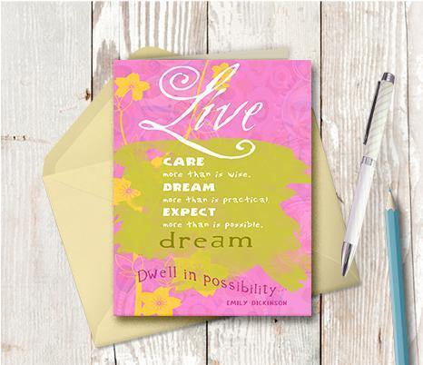 0135 Live Care Dream Brown Note Card