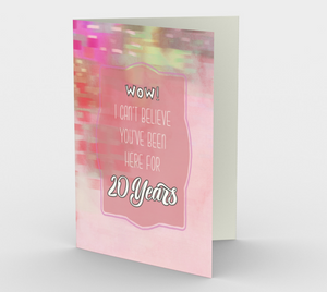 1322. Work Anniversary 20 Years  Card by DeloresArt