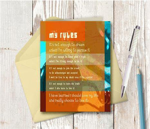 0136 My Rules Note Card