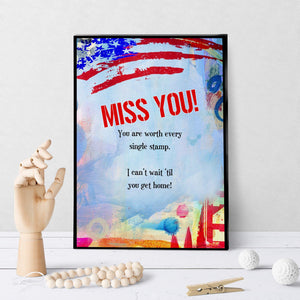 1374 Miss You Red White And Blue Art