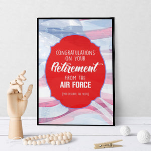 1379 Congrats On Retirement From Air Force Art