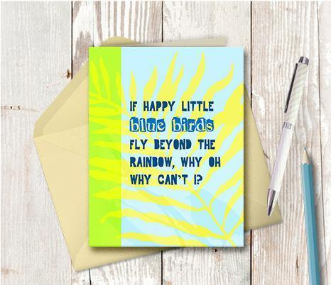 0137 Happy Little Bluebirds Note Card