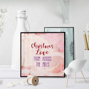 1389 Christmas Love From Across The Miles Art