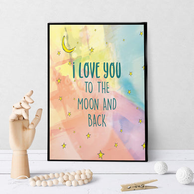1399 Love You To The Moon And Back Art
