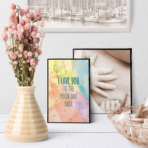 1399 Love You To The Moon And Back Art - deloresartcanada