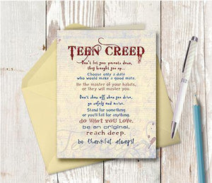 0139 Teen Creed Note Card