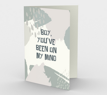 1412 Boy, You've Been On My Mind Card by Deloresart