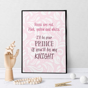 1403 Roses Are Red, I'll Be Your Knight Art