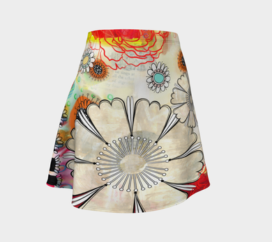 Flower Power Flare Skirt by Deloresart