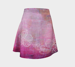 Bra Off, Hair Up Flare Skirt by Deloresart