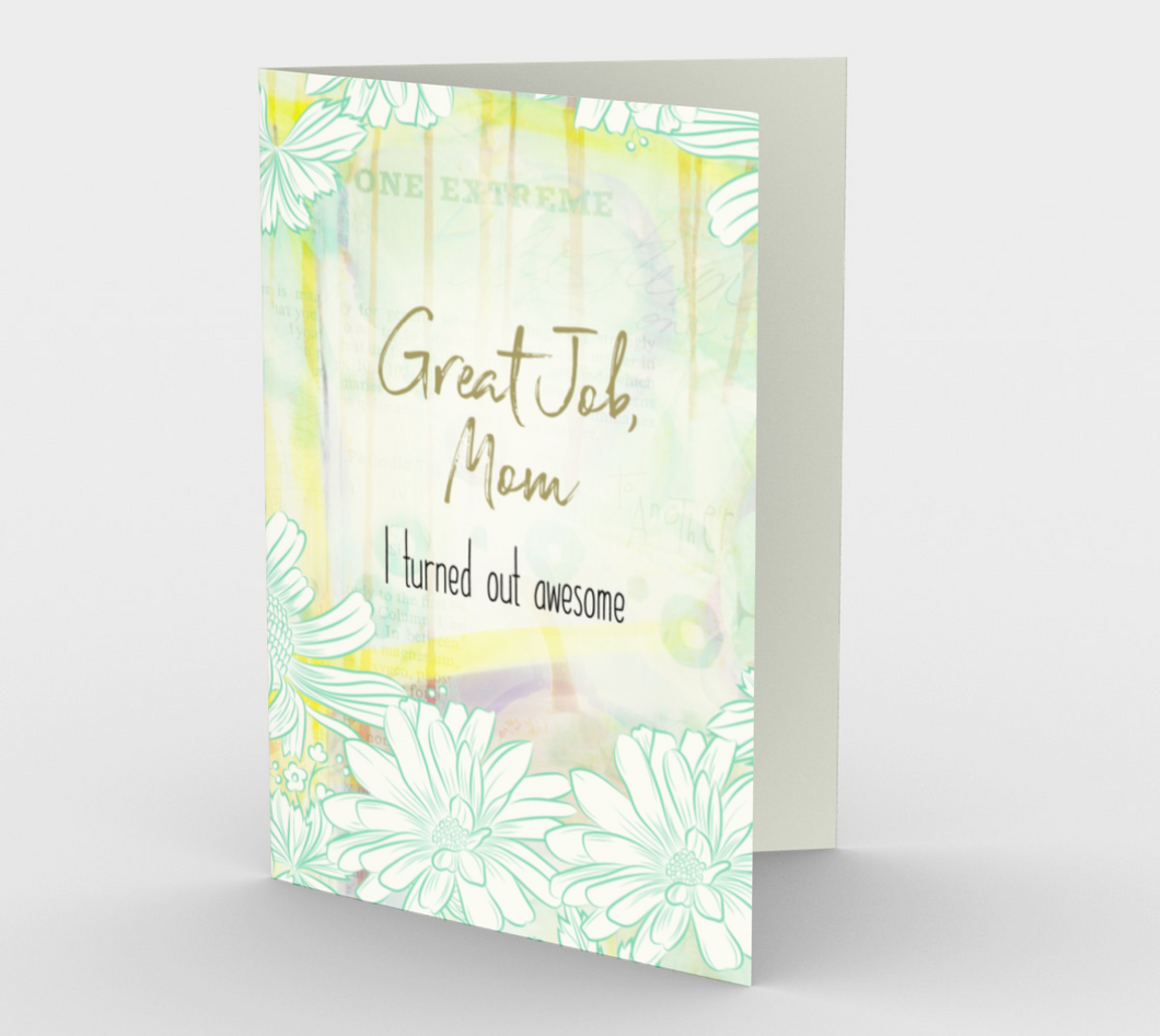 1056.Great Job, Mom  Card by DeloresArt