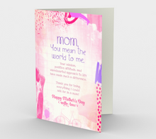1152. Mom You Mean The World  Card by DeloresArt