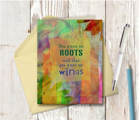 0170 Roots And Wings Note Card